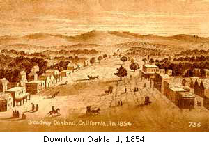 Downtown Oakland 1854